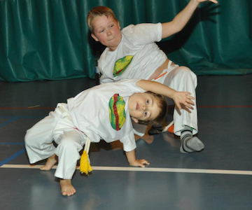Capoeira for kids and teens with Instrutor Luquinha from the international group Abadá Capoeira