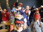 Maak een masker van recyclagestof