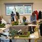 Vrij Atelier vzw Bloemschikken: Gevouwen blad: Annie Van Hullebusch