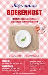 Kookworkshops Bijzondere Boerenkost - Chefkoks koken creatief met lokale hoeveproducten