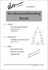 Kerstboomverbranding Chiro Brecht