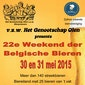 22ste weekend der Belgische Bieren