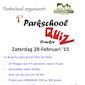 1° Parkschool Quiz Crackje - Zaterdag 28 februari 2015