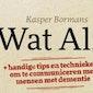 Lezing Kasper Bormans - Wat Alz?