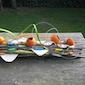 Zomerse tuintafel decoratie