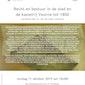 Voordracht : Recht en bestuur in de stad en de kasselrij Veurne tot 1800