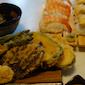 Tempura + sushi Leren voor Kerstmis Feest