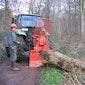 Demo bosbeheermachines en boswerkers