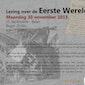 Lezing over de Eerste Wereldoorlog