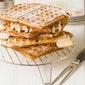 Groot wafel en boterhammenfeest
