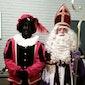 Sint en Piet op bezoek op de markt in Lanaken.