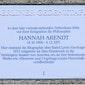 Filosofie: Gedachtegoed van Hannah Arendt en Emmanuel Levinas / Dr. Anya Topolski