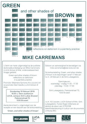 Tentoonstelling Mike Carremans: 'Green, and other shades of brown'