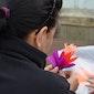 Bloemen maken in papier