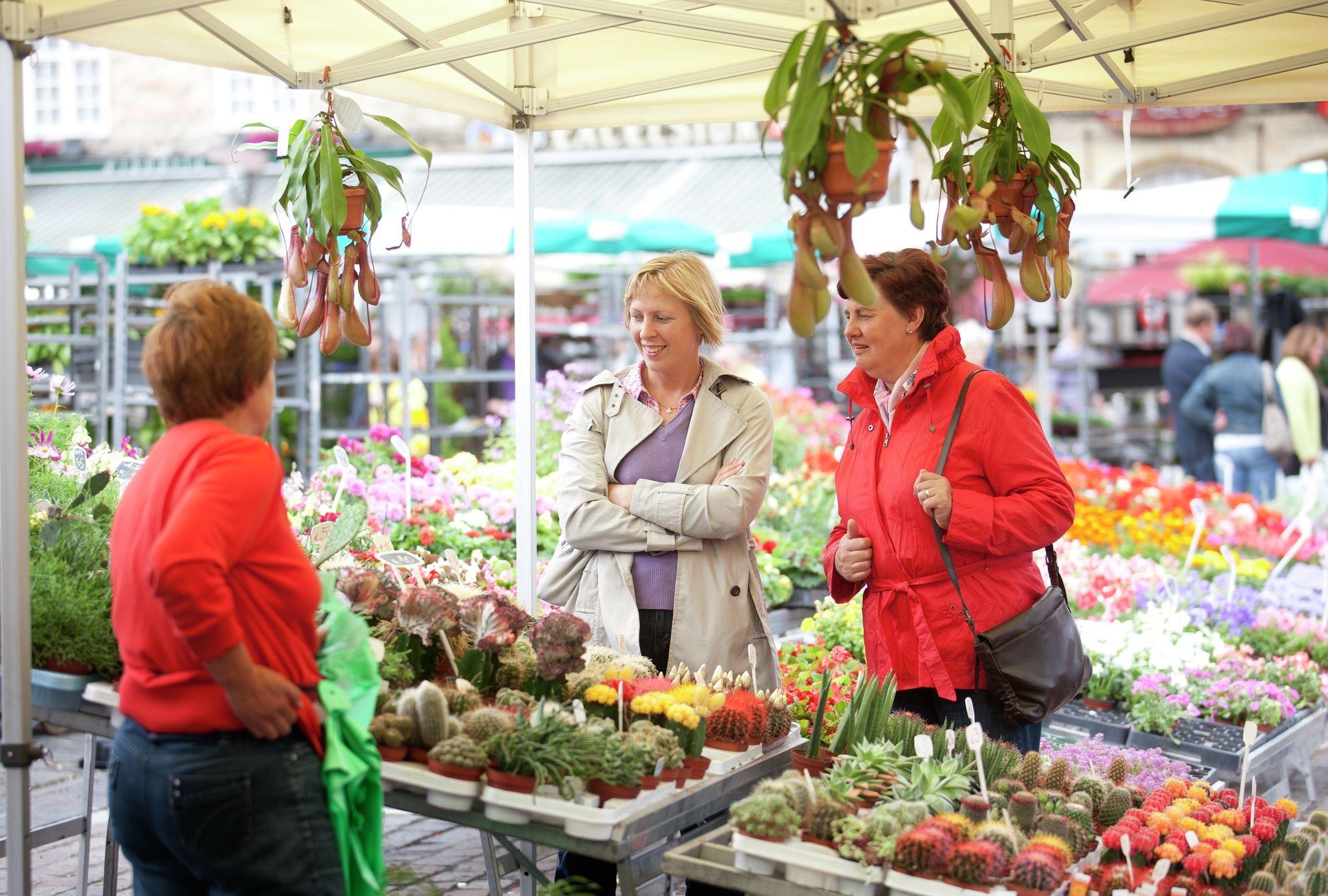 Wekelijkse bloemenmarkt