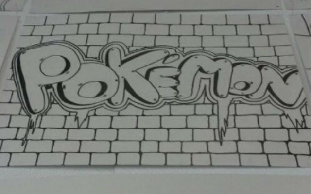 Graffiti met potlood en stift 3d woorden tekenen vm for 3d tekenen op computer