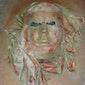 Eigen gipsmasker op canvasdoek