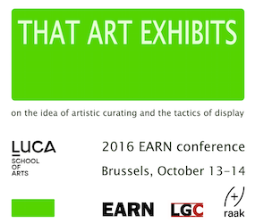 That Art Exhibits, 2016 EARN Conference