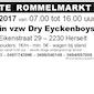 Grote Rommelmarkt, Voetbalterrein vzw Dry Eyckenboys te Bergom/Herselt