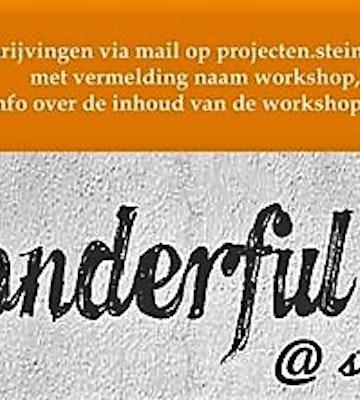 Wonderful Workshops Steinerschool Brugge Assebroek Prettig Geleerd