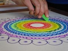 Mandala tekenen. reis door de chakra's