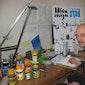 Illustrator Tom Schoonooghe op bezoek