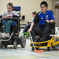 open training powerchair hockey