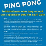 Start to Pingpong - Initiatielessen voor jong en oud!