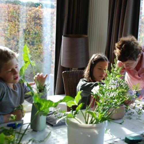 Kinderworkshop: ikebana - eerste schikking van het nieuwe jaar