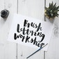 workshop Brushlettering