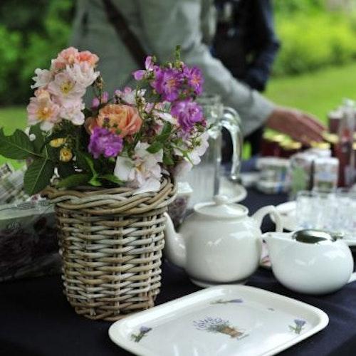 High tea & poetry in the Rose Garden