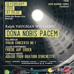 Ralph Vaughan Williams – Dona Nobis Pacem – Max Bruch – Vioolconcert nr 1