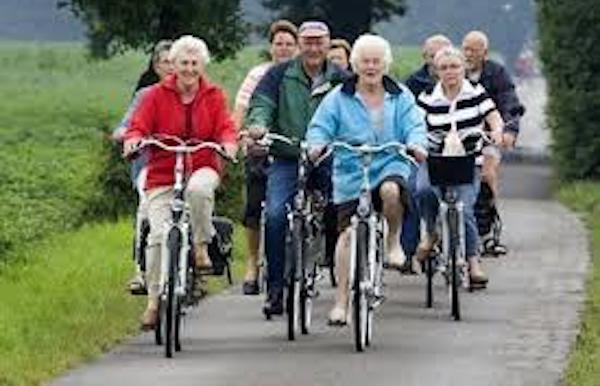 Wekelijkse fietstochten met de Bondsfietsclub