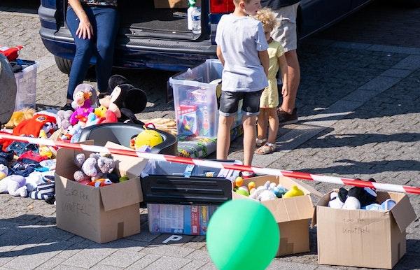 Kofferbakverkoop voor tweedehands baby- en kinderspullen.