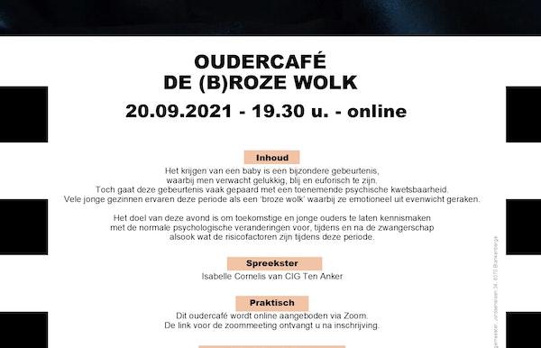Oudercafé online: DE (B)ROZE WOLK door Isabelle Cornelis van CIG Ten Anker